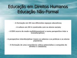 Educação Não-Formal EDH