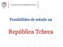 Estudo na República Tcheca