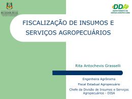 FISCALIZAÇÃO DE AGROTÓXICOS