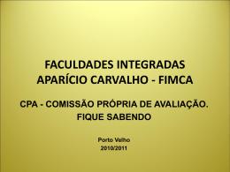 FACULDADES INTEGRADAS APARÍCIO CARVALHO