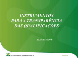 Instrumentos para a Transparência das Qualificações
