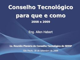 Palestra do Eng. Allen Habert