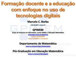 Apresentação Marcelo Borba