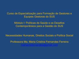 Necessidades Humanas Direito Social