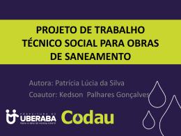 O que é Projeto de Trabalho Social (PTS)