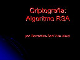 Algoritmos de Chave Pública (RSA)