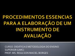 procedimentos essencias para a elaboração de um instrumento de