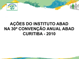 Slide 1 - Instituto ABAD