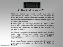 Rádio dos anos 70