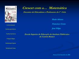 """""""A importância da Matemática nos primeiros anos""""."""