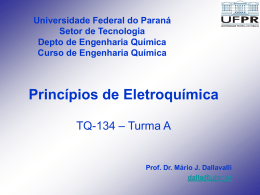 EletroquimicaAula02 - GEA - Universidade Federal do Paraná