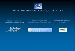 Apresentação - Secretaria Regional Educação Recursos Humanos