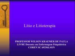 Litiotewrapia - Wilson Kraemer de Paula
