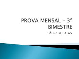 PROVA MENSAL – 3º BIMESTRE