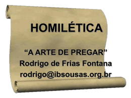 curso de homilética – como pregar?