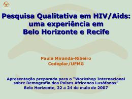 Pesquisa Qualitativa em HIV/Aids