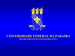 Ensaio de Sedimentação - Universidade Federal da Paraíba