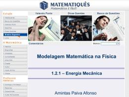 Modelagem Matemática na Física