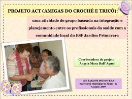 projeto act (amigas do crochê e tricô)