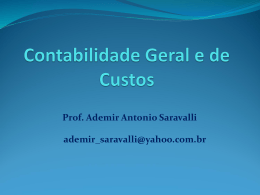 Introdução em Contabilidade Geral e de custos