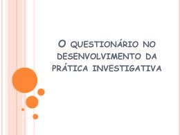 Elaboração de questionários - Universidade Castelo Branco