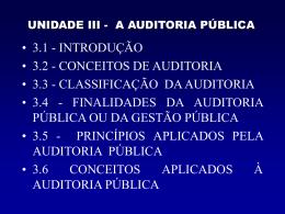 Unidade III - Auditoria 3.1 a 3.3