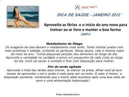 Janeiro - Viver Bem