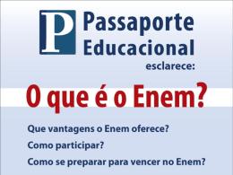 COMO É A PROVA DO ENEM - colégio heitor garcia