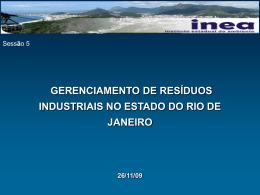 Gerenciamento de Resíduos Industriais no Estado do Rio