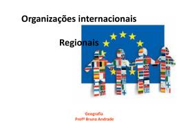 Organizações internacionais Regionais