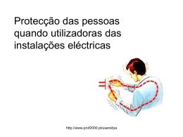 Protecção das pessoas quando utilizadoras das instalações eléctricas