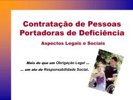 Contratação de Pessoas Portadoras de Deficiência