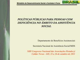 políticas públicas para pessoas com deficiência no âmbito da