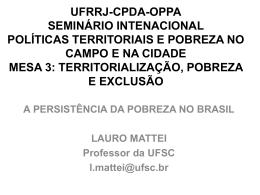 UFRRJ-CPDA-OPPA SEMINÁRIO INTENACIONAL POLÍTICAS
