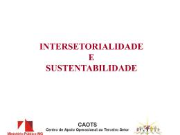 ALIANÇAS INTERSETORIAIS - Dr. Tomáz de Aquino Resende