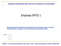 sistemas integrados para gestao de pessoas e de processos