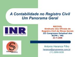 A Contabilidade no Registro Civil Um Panorama Geral