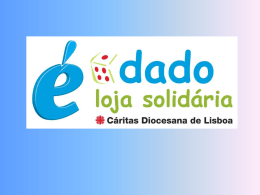 Slide 1 - Cáritas Portuguesa