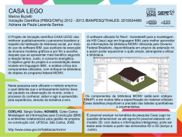 CASA LEGO Marina Buzetti Tipo de Bolsa/Agência de