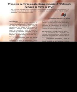 Programa de Terapias não Convencionais: A Fitoterapia na Casa