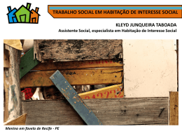 Slide 1 - Sistema Social Habitação