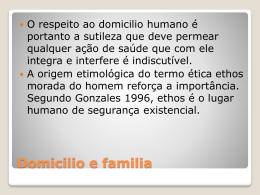 Domicilio e familia - Universidade Castelo Branco