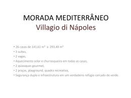 Villagio di Nápoles - Apresentação - Rodrigo Imóveis
