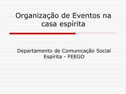 Organização do evento