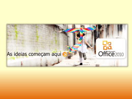 VERSÕES DO MICROSOFT OFFICE 2010