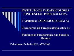 fenômenos paranormais - Paróquia Verbo Divino