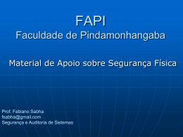 a Segurança - fabianosabha.com.br