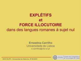 Explétifs et force illocutoire dans des langues romanes à