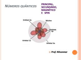 Números quânticos - 3° - EM - Prof. Nilsonmar