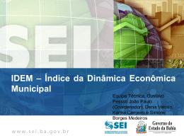 Índice da Dinâmica Econômica Municipal